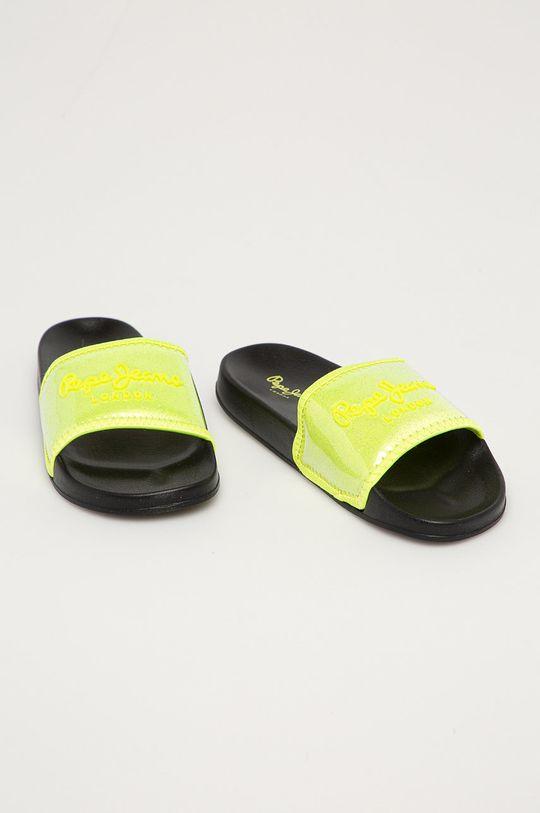 Pepe Jeans - Pantofle Crystal žlutě zelená