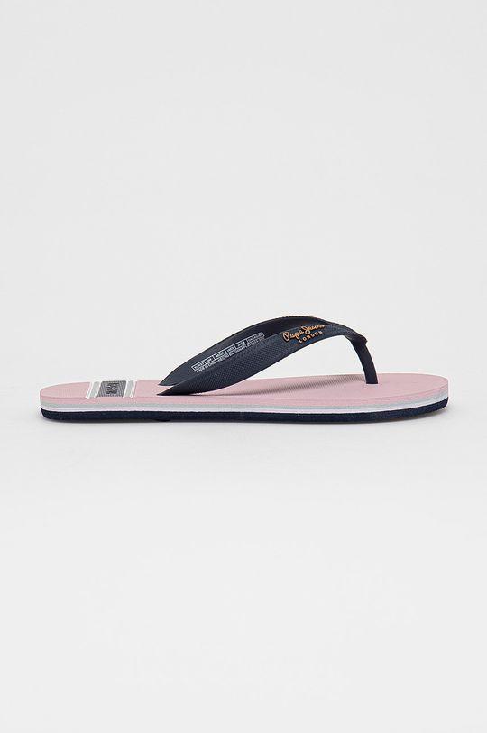 pastelowy różowy Pepe Jeans - Japonki Bay Beach Woman Damski