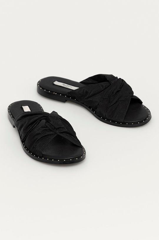 Pepe Jeans - Pantofle Hayes Nacked černá