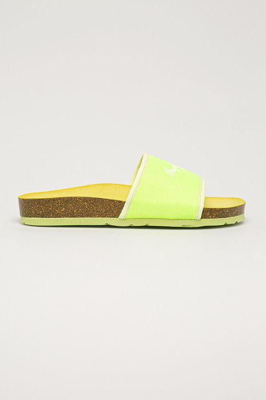žlto-zelená Pepe Jeans - Šľapky Oban Soft Dámsky
