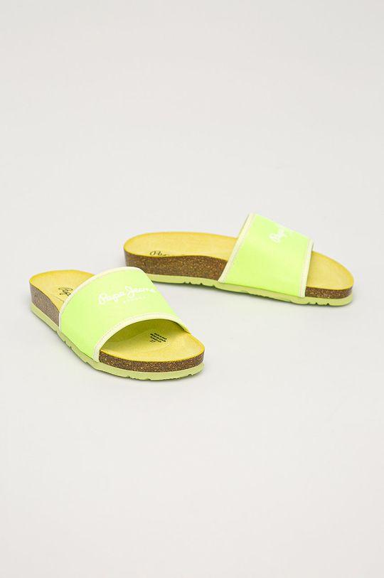 Pepe Jeans - Šľapky Oban Soft žlto-zelená