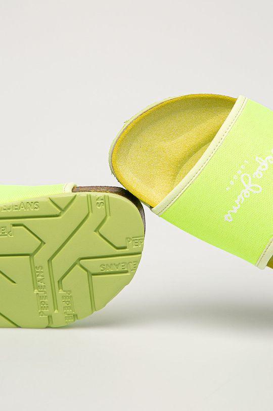 žlto-zelená Pepe Jeans - Šľapky Oban Soft