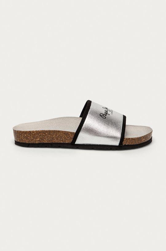 stříbrná Pepe Jeans - Pantofle Oban Soft Dámský