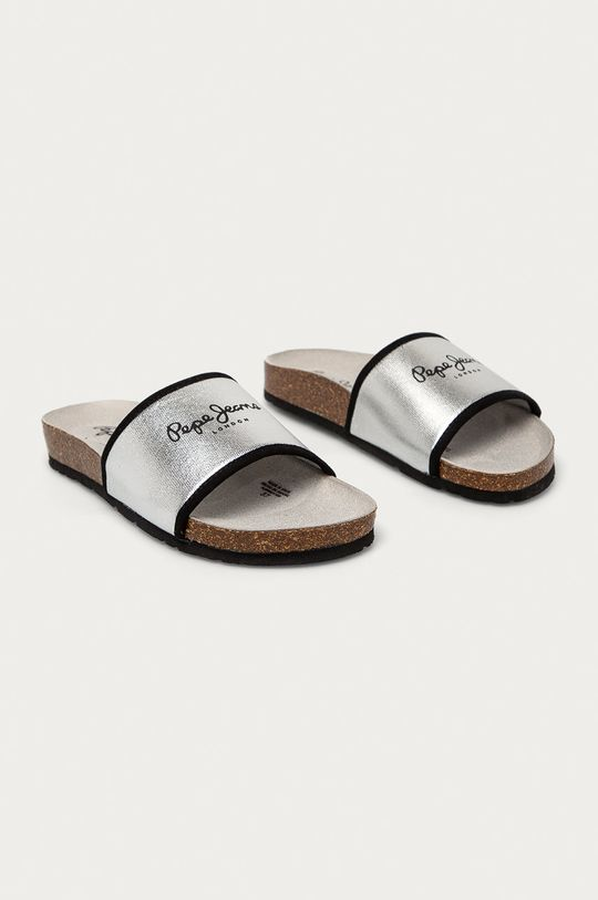 Pepe Jeans - Pantofle Oban Soft stříbrná