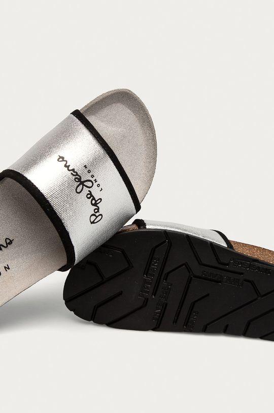 stříbrná Pepe Jeans - Pantofle Oban Soft