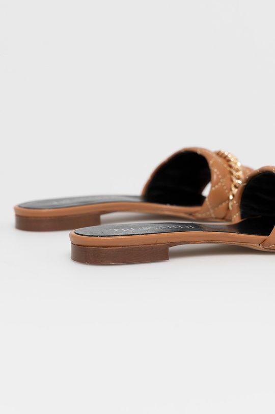 Trussardi - Kožené pantofle  Svršek: Kozí kůže Podrážka: Umělá hmota Vložka: Přírodní kůže