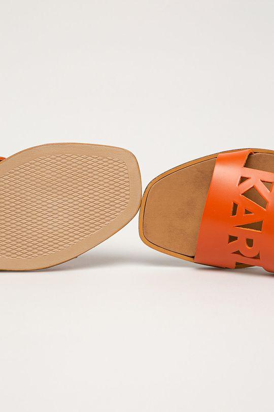 pomarańczowy Karl Lagerfeld - Klapki skórzane