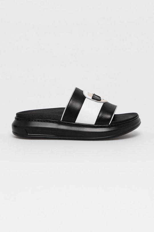 czarny Karl Lagerfeld - Klapki skórzane Damski