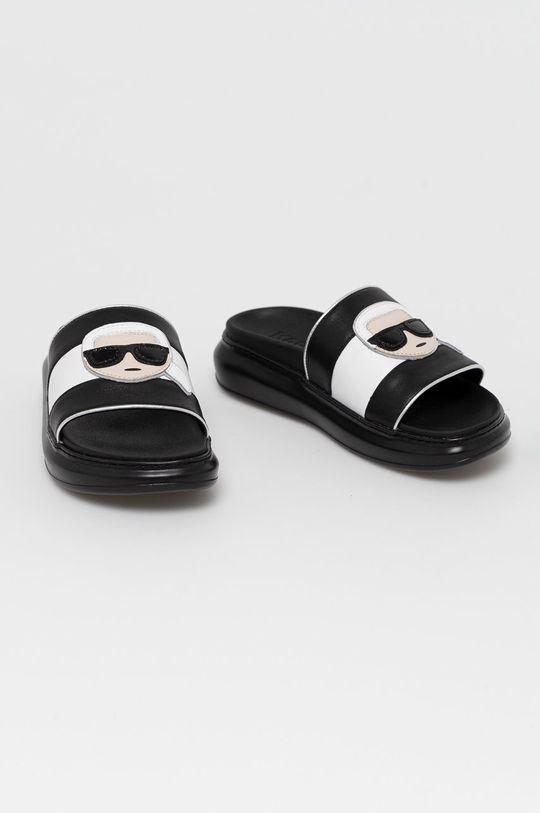 Karl Lagerfeld - Klapki skórzane czarny