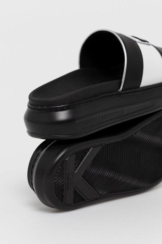 Karl Lagerfeld - Klapki skórzane Cholewka: Skóra naturalna, Wnętrze: Materiał syntetyczny, Materiał tekstylny, Podeszwa: Materiał syntetyczny