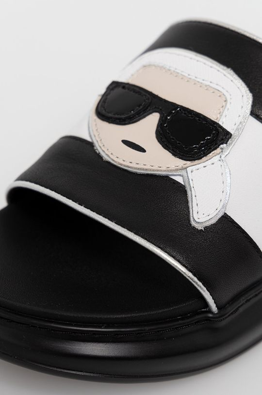 Karl Lagerfeld - Klapki skórzane Damski
