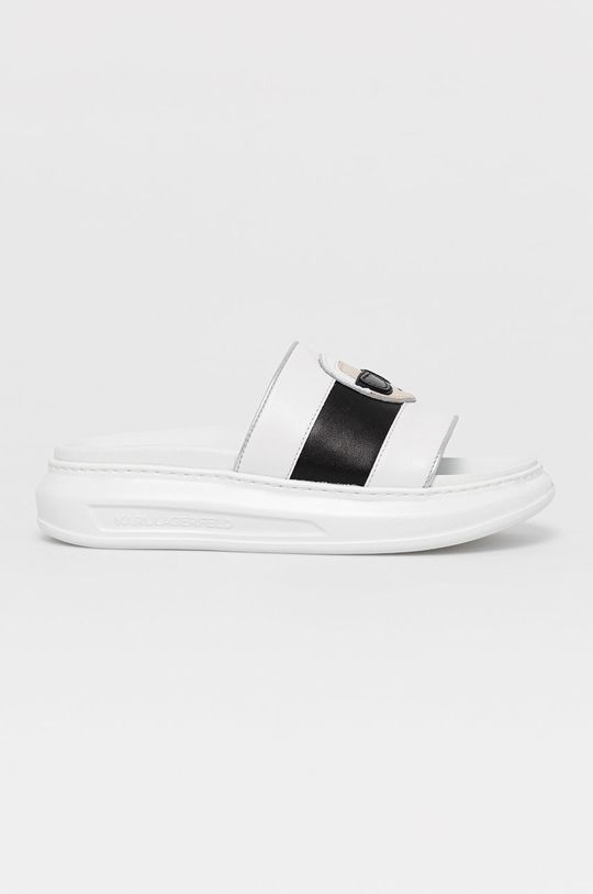 biela Karl Lagerfeld - Kožené šľapky Dámsky