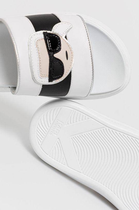 Karl Lagerfeld - Kožené šľapky  Zvršok: Prírodná koža Vnútro: Syntetická látka, Textil Podrážka: Syntetická látka