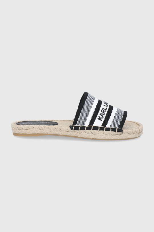 biały Karl Lagerfeld - Klapki Damski