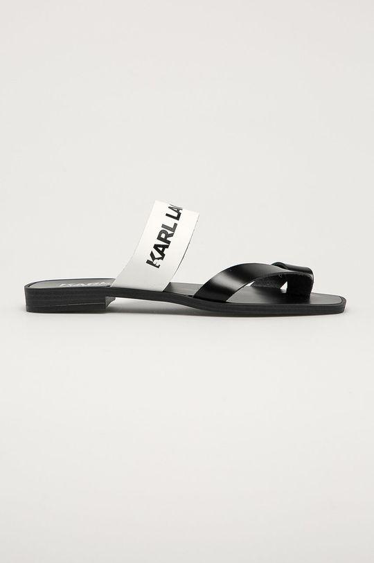 bílá Karl Lagerfeld - Kožené žabky Dámský