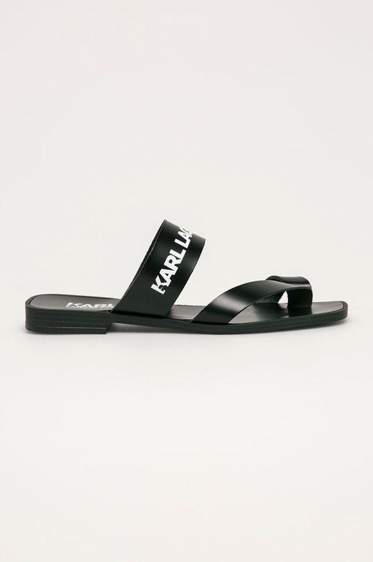 čierna Karl Lagerfeld - Kožené žabky Dámsky