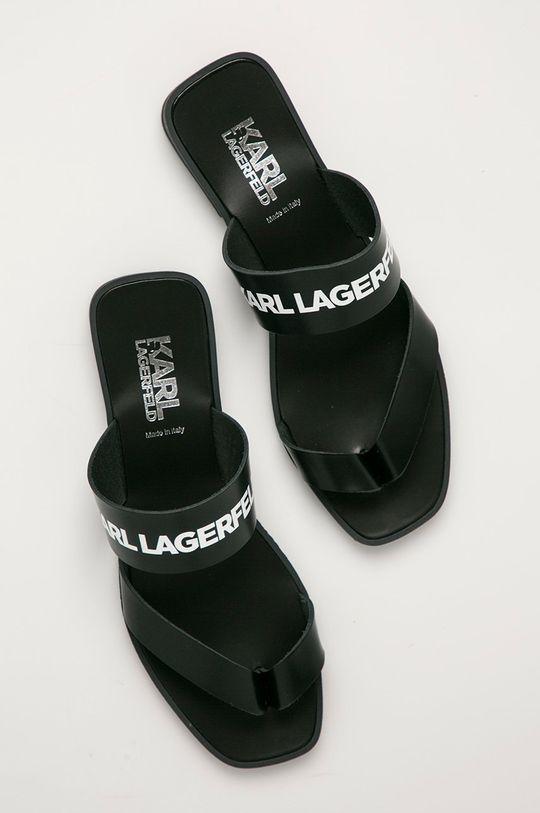 čierna Karl Lagerfeld - Kožené žabky
