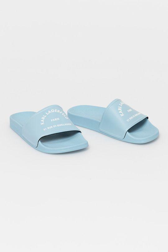 Karl Lagerfeld - Klapki jasny niebieski
