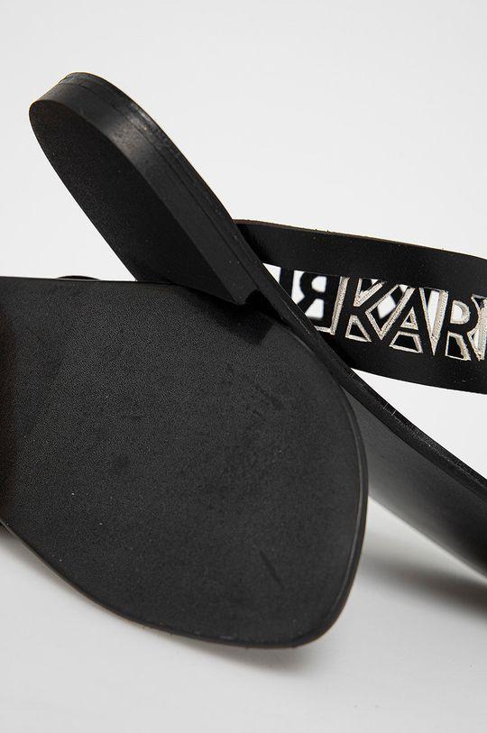 Karl Lagerfeld - Japonki skórzane Cholewka: Skóra naturalna, Wnętrze: Materiał syntetyczny, Skóra naturalna, Podeszwa: Materiał syntetyczny