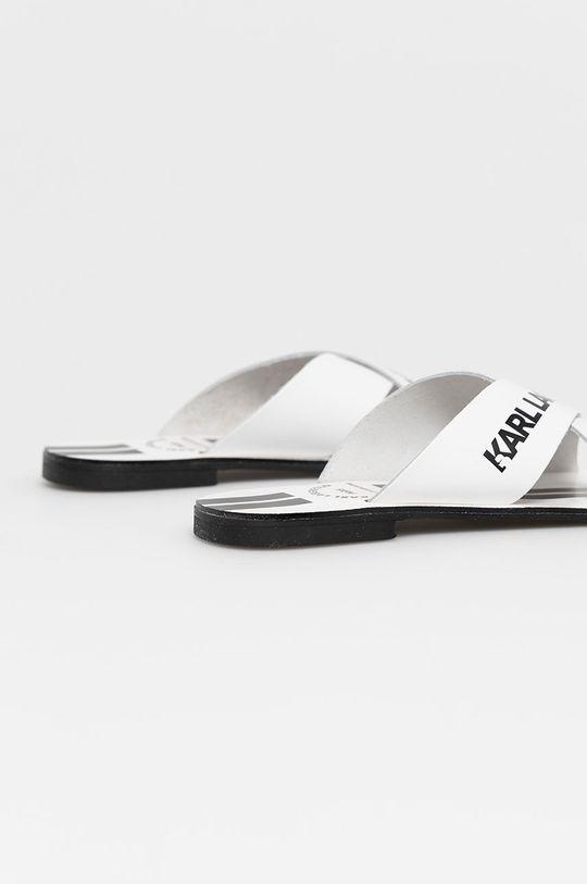 Karl Lagerfeld - Klapki skórzane Cholewka: Skóra naturalna, Wnętrze: Materiał syntetyczny, Podeszwa: Materiał syntetyczny