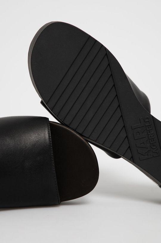 čierna Karl Lagerfeld - Kožené šľapky