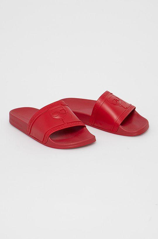 Karl Lagerfeld - Klapki czerwony