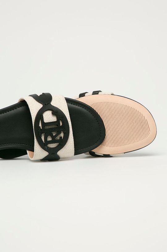 Lauren Ralph Lauren - Klapki Cholewka: Materiał tekstylny, Skóra naturalna, Wnętrze: Materiał syntetyczny, Podeszwa: Materiał syntetyczny, Skóra naturalna