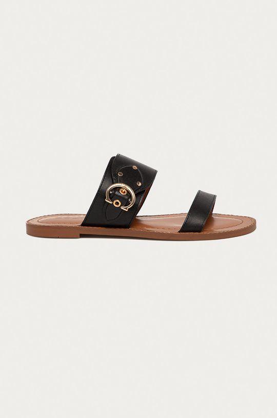 černá Coach - Kožené pantofle Dámský