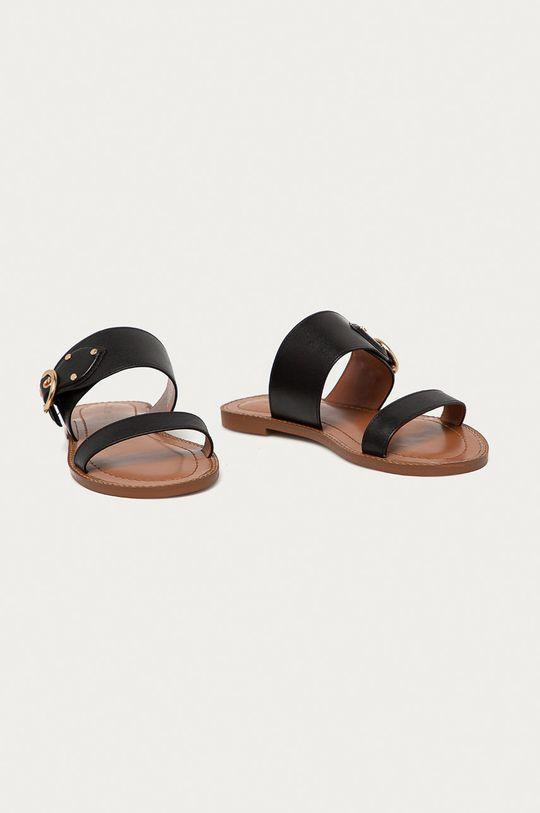 Coach - Kožené pantofle černá