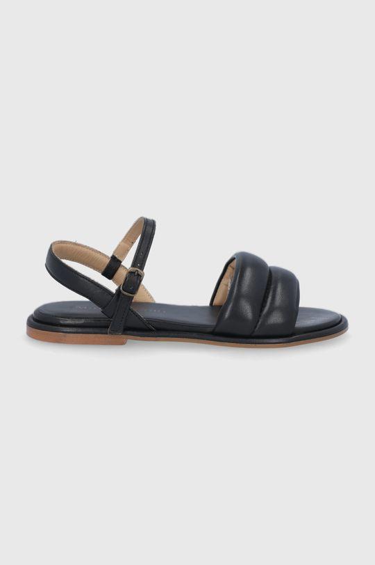 čierna Marc O'Polo - Kožené sandále Dámsky