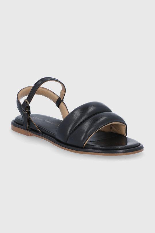 Marc O'Polo - Kožené sandále čierna