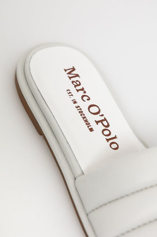 Marc O'Polo - Klapki skórzane Cholewka: Skóra naturalna, Wnętrze: Skóra naturalna, Podeszwa: Materiał syntetyczny