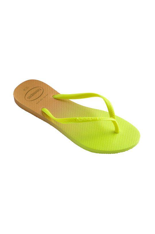 Havaianas - Japonki żółto - zielony