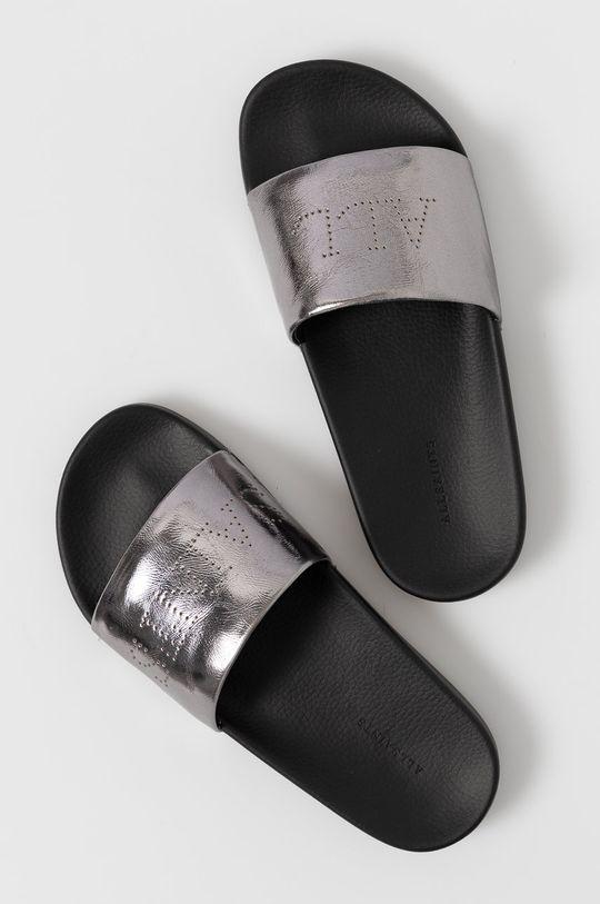 AllSaints - Kožené sandály Karli stříbrná