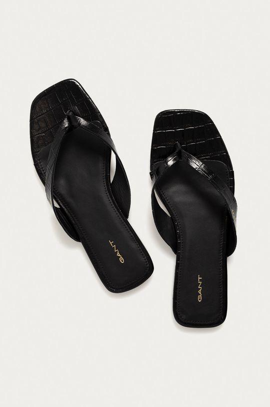 Gant - Kožené pantofle Palmsea černá