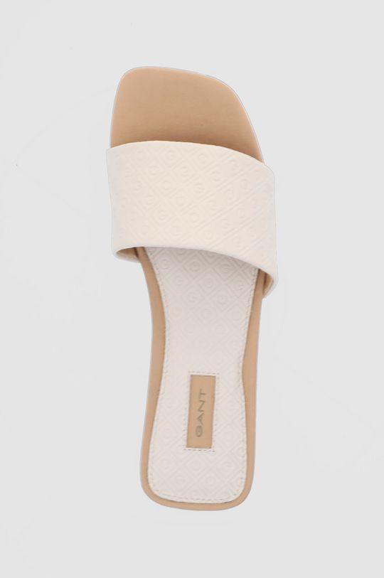 béžová Gant - Kožené pantofle Palmsand