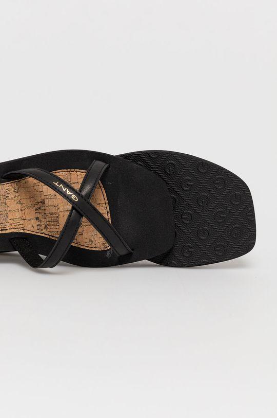 Gant - Klapki skórzane Limesea Cholewka: Skóra naturalna, Wnętrze: Materiał syntetyczny, Materiał tekstylny, Podeszwa: Materiał syntetyczny