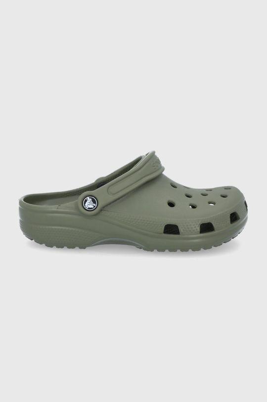 hnedozelená Crocs - Šľapky Dámsky