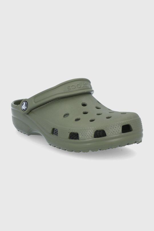 Crocs - Šľapky hnedozelená