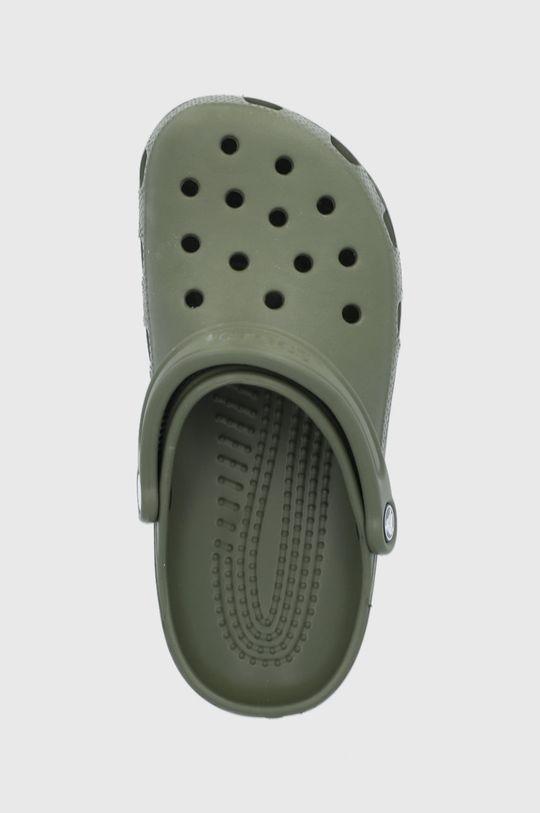 hnedozelená Crocs - Šľapky