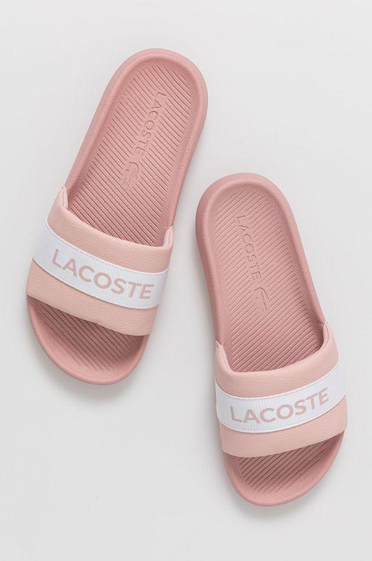 Lacoste - Šľapky pastelová ružová