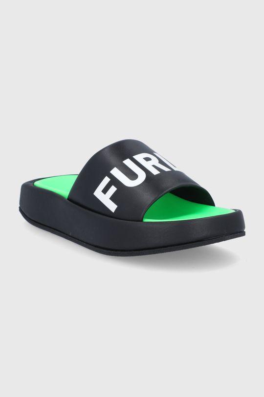 Furla - Bőr papucs Real fekete