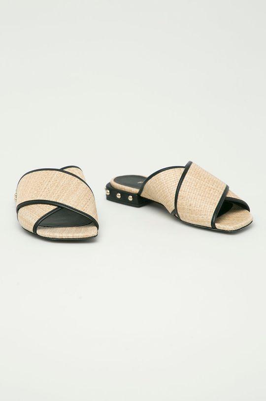 Furla - Pantofle Cross béžová