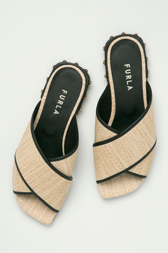 béžová Furla - Pantofle Cross