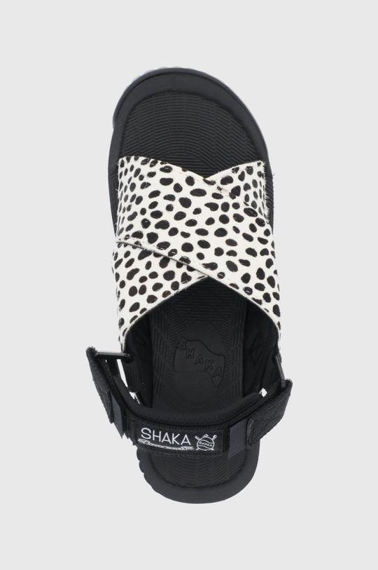 biały Shaka - Sandały skórzane