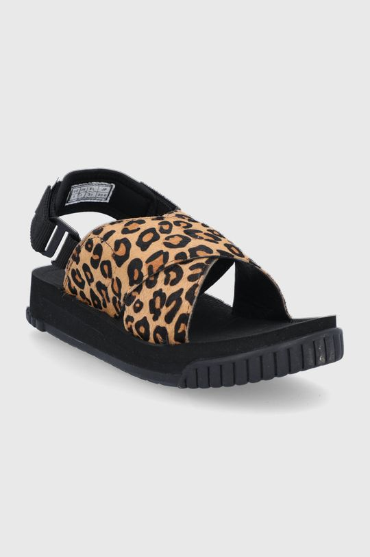 Shaka - Kožené sandály hnědá