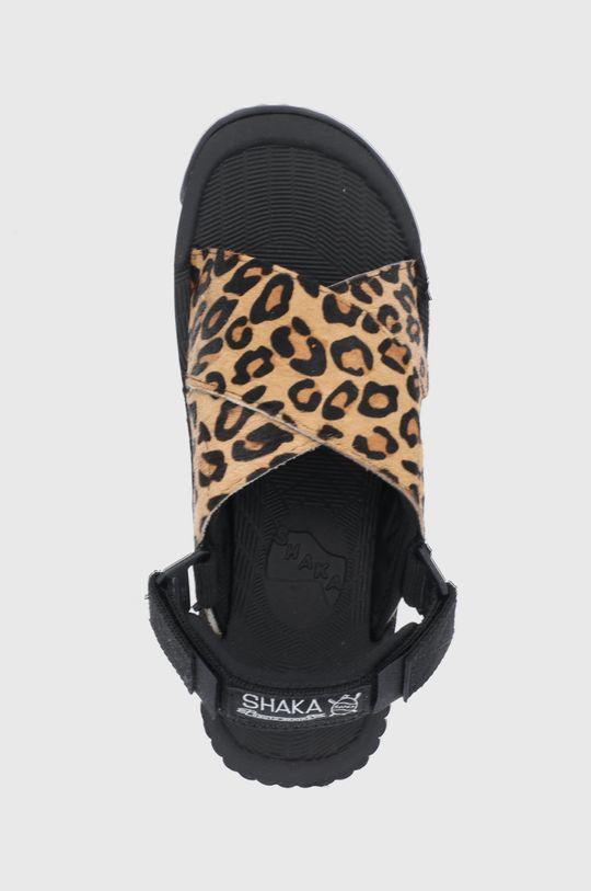 hnědá Shaka - Kožené sandály