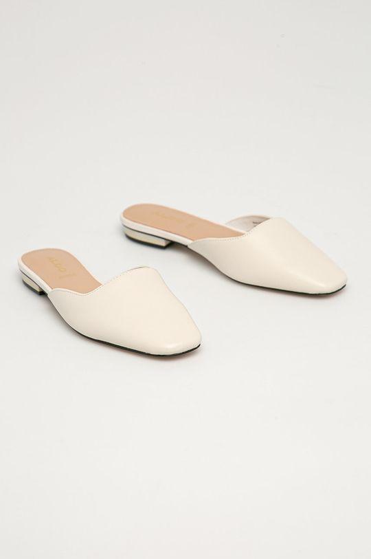 Aldo - Kožené pantofle Alyssaa 100 bílá