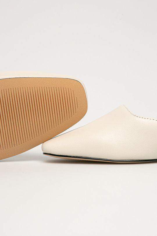 bílá Aldo - Kožené pantofle Alyssaa 100