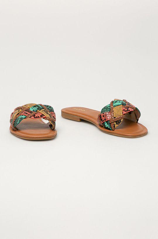 Aldo - Kožené pantofle Lothelalian vícebarevná